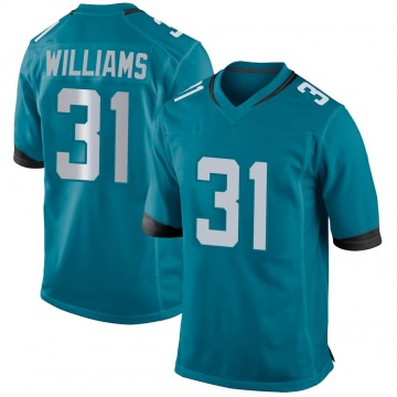 Youth Nike Jacksonville Jaguars Kobe Williams Teal Jersey - Game