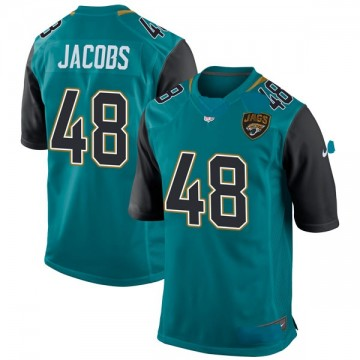 Youth Nike Jacksonville Jaguars Leon Jacobs Teal Team Color Jersey - Game