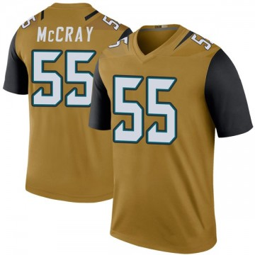 Youth Nike Jacksonville Jaguars Lerentee McCray Gold Color Rush Bold Jersey - Legend