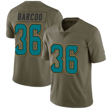 Youth Nike Jacksonville Jaguars Luq Barcoo Green 2017 Salute to Service Jersey - Limited