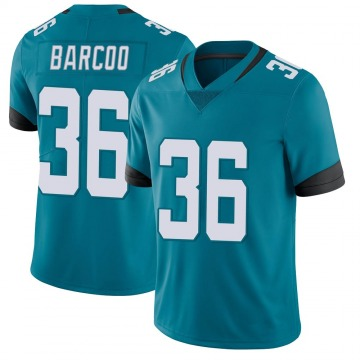 Youth Nike Jacksonville Jaguars Luq Barcoo Teal Vapor Untouchable Jersey - Limited
