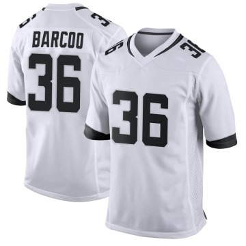 Youth Nike Jacksonville Jaguars Luq Barcoo White Jersey - Game