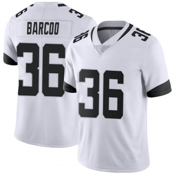 Youth Nike Jacksonville Jaguars Luq Barcoo White Vapor Untouchable Jersey - Limited