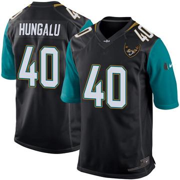 Youth Nike Jacksonville Jaguars Manase Hungalu Black Alternate Jersey - Game