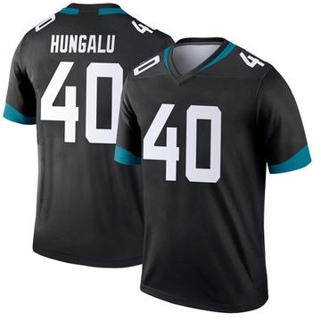 Youth Nike Jacksonville Jaguars Manase Hungalu Black Jersey - Legend