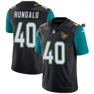 Youth Nike Jacksonville Jaguars Manase Hungalu Black Vapor Untouchable Alternate Jersey - Limited