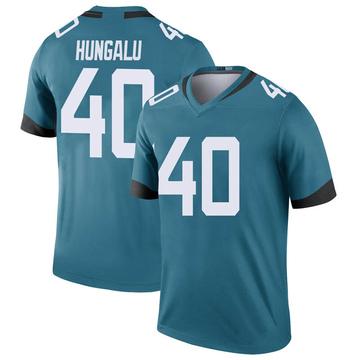 Youth Nike Jacksonville Jaguars Manase Hungalu Teal Color Rush Jersey - Legend