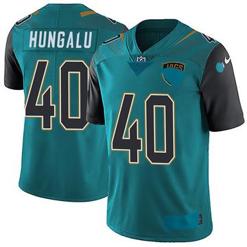 Youth Nike Jacksonville Jaguars Manase Hungalu Teal Vapor Untouchable Team Color Jersey - Limited