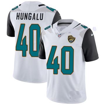 Youth Nike Jacksonville Jaguars Manase Hungalu White Vapor Untouchable Jersey - Limited