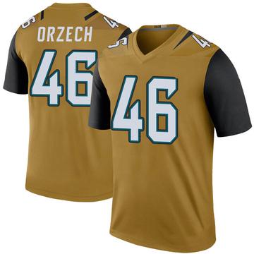 Youth Nike Jacksonville Jaguars Matthew Orzech Gold Color Rush Bold Jersey - Legend