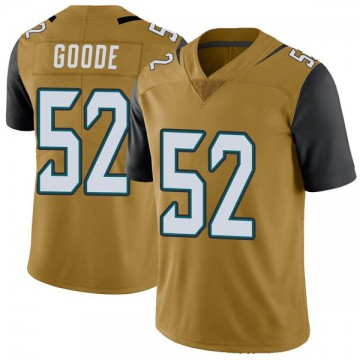 Youth Nike Jacksonville Jaguars Najee Goode Gold Color Rush Vapor Untouchable Jersey - Limited