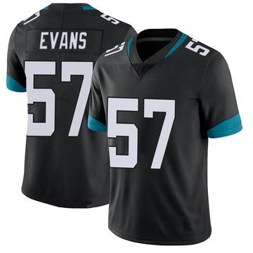 Youth Nike Jacksonville Jaguars Nate Evans Black 100th Vapor Untouchable Jersey - Limited