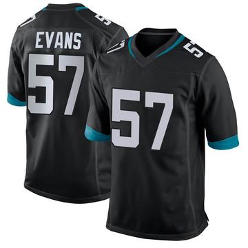 Youth Nike Jacksonville Jaguars Nate Evans Black Jersey - Game