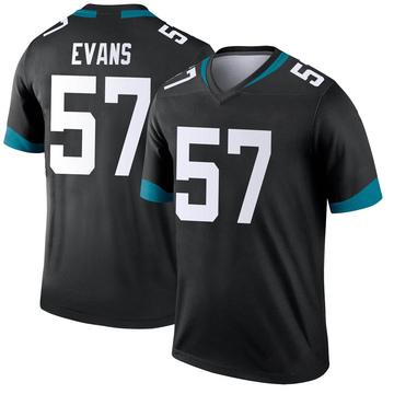 Youth Nike Jacksonville Jaguars Nate Evans Black Jersey - Legend