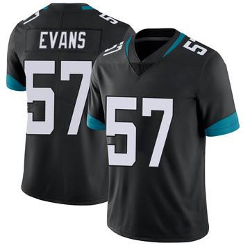 Youth Nike Jacksonville Jaguars Nate Evans Black Vapor Untouchable Jersey - Limited