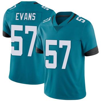 Youth Nike Jacksonville Jaguars Nate Evans Teal Vapor Untouchable Jersey - Limited