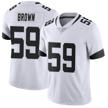 Youth Nike Jacksonville Jaguars Preston Brown White Vapor Untouchable Jersey - Limited