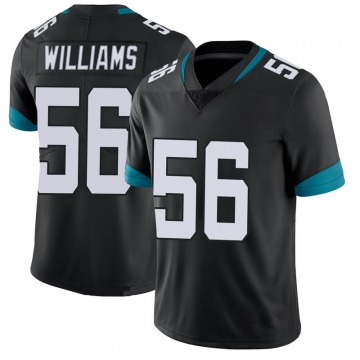 Youth Nike Jacksonville Jaguars Quincy Williams Black 100th Vapor Untouchable Jersey - Limited