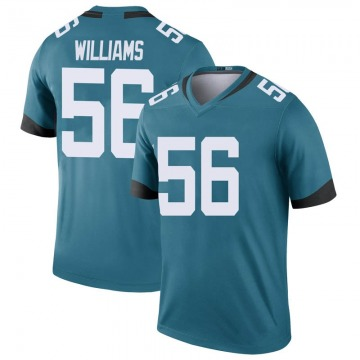 Youth Nike Jacksonville Jaguars Quincy Williams Teal Color Rush Jersey - Legend