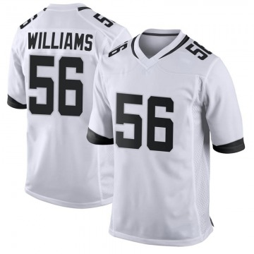 Youth Nike Jacksonville Jaguars Quincy Williams White Jersey - Game
