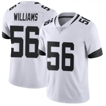 Youth Nike Jacksonville Jaguars Quincy Williams White Vapor Untouchable Jersey - Limited