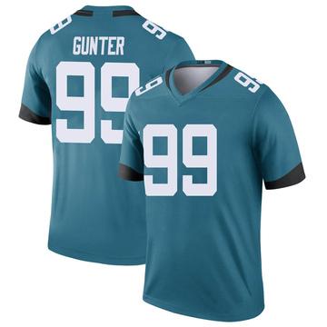Youth Nike Jacksonville Jaguars Rodney Gunter Teal Color Rush Jersey - Legend