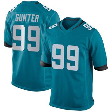 Youth Nike Jacksonville Jaguars Rodney Gunter Teal Jersey - Game