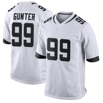 Youth Nike Jacksonville Jaguars Rodney Gunter White Jersey - Game