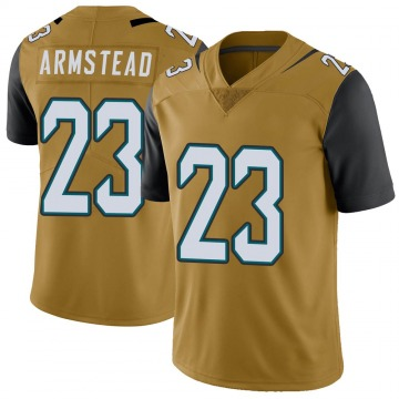 Youth Nike Jacksonville Jaguars Ryquell Armstead Gold Color Rush Vapor Untouchable Jersey - Limited