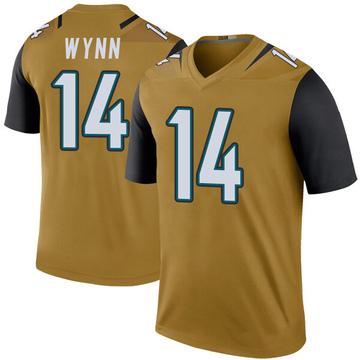 Youth Nike Jacksonville Jaguars Shane Wynn Gold Color Rush Bold Jersey - Legend