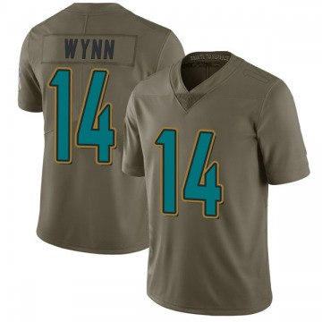 Youth Nike Jacksonville Jaguars Shane Wynn Green 2017 Salute to Service Jersey - Limited