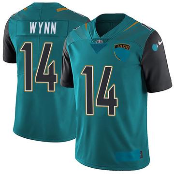 Youth Nike Jacksonville Jaguars Shane Wynn Teal Vapor Untouchable Team Color Jersey - Limited