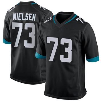 Youth Nike Jacksonville Jaguars Steven Nielsen Black Jersey - Game