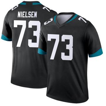Youth Nike Jacksonville Jaguars Steven Nielsen Black Jersey - Legend