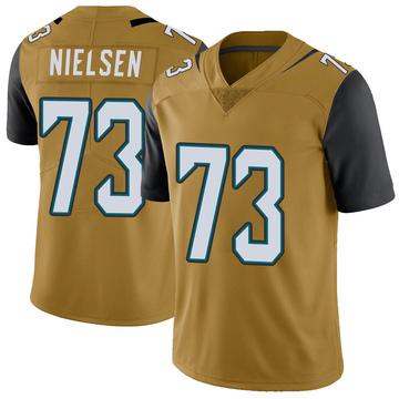 Youth Nike Jacksonville Jaguars Steven Nielsen Gold Color Rush Vapor Untouchable Jersey - Limited