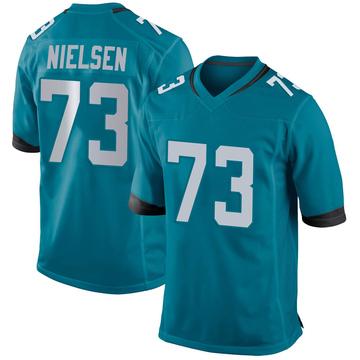 Youth Nike Jacksonville Jaguars Steven Nielsen Teal Jersey - Game
