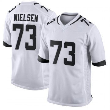 Youth Nike Jacksonville Jaguars Steven Nielsen White Jersey - Game