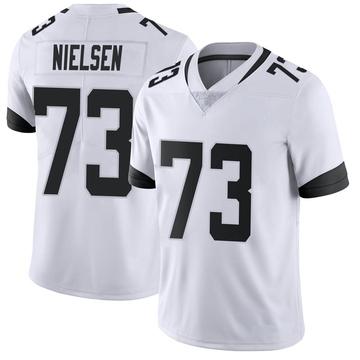 Youth Nike Jacksonville Jaguars Steven Nielsen White Vapor Untouchable Jersey - Limited