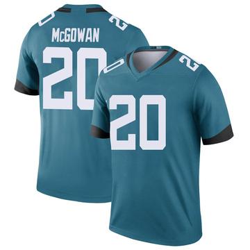 Youth Nike Jacksonville Jaguars Taj McGowan Teal Color Rush Jersey - Legend