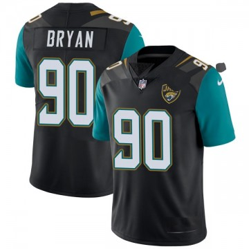 Youth Nike Jacksonville Jaguars Taven Bryan Black Vapor Untouchable Alternate Jersey - Limited