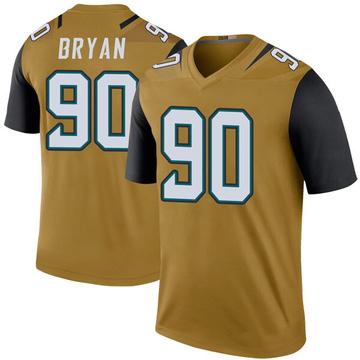 Youth Nike Jacksonville Jaguars Taven Bryan Gold Color Rush Bold Jersey - Legend