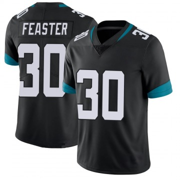 Youth Nike Jacksonville Jaguars Tavien Feaster Black 100th Vapor Untouchable Jersey - Limited