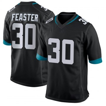 Youth Nike Jacksonville Jaguars Tavien Feaster Black Jersey - Game