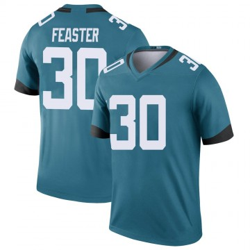 Youth Nike Jacksonville Jaguars Tavien Feaster Teal Color Rush Jersey - Legend