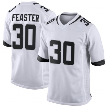 Youth Nike Jacksonville Jaguars Tavien Feaster White Jersey - Game