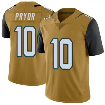 Youth Nike Jacksonville Jaguars Terrelle Pryor Gold Color Rush Vapor Untouchable Jersey - Limited