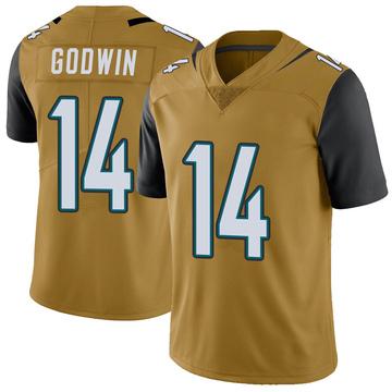 Youth Nike Jacksonville Jaguars Terry Godwin Gold Color Rush Vapor Untouchable Jersey - Limited