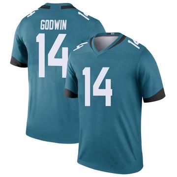 Youth Nike Jacksonville Jaguars Terry Godwin Teal Color Rush Jersey - Legend