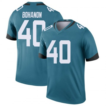 Youth Nike Jacksonville Jaguars Tommy Bohanon Teal Color Rush Jersey - Legend