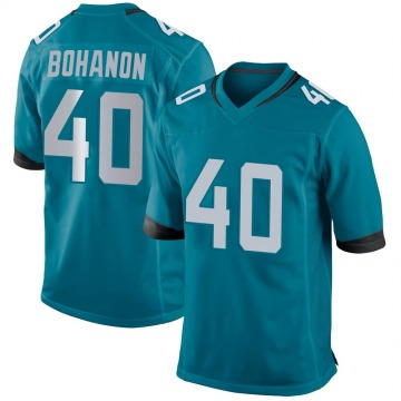 Youth Nike Jacksonville Jaguars Tommy Bohanon Teal Team Color Jersey - Game